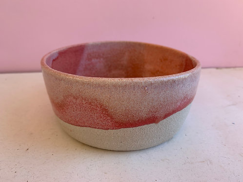 Small and Wide Strawberry Swirl Bowl
