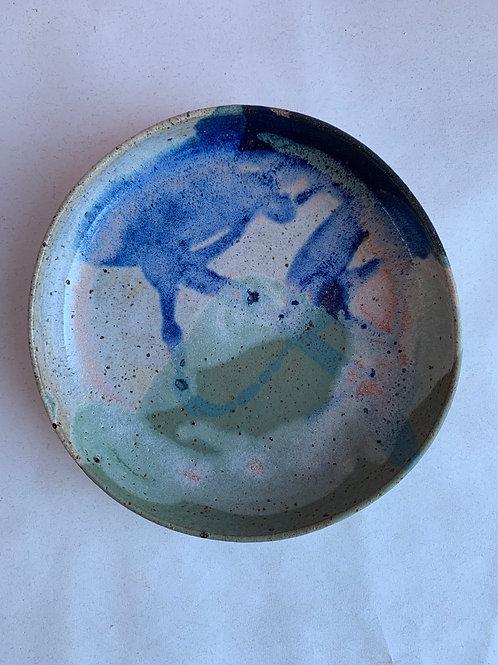 L Seaweed Splash Plate Bowl
