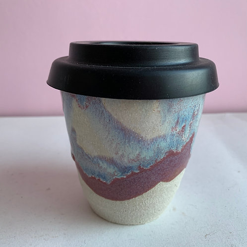 Icy purple travel cup