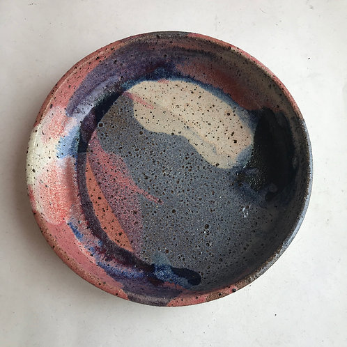 L Recycled Clay Sunset Splash Plate Bowl