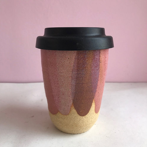 L Strawberry Petal Travel Cup