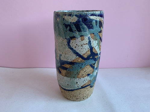 Large Recycled Clay Summer Sunset Vase