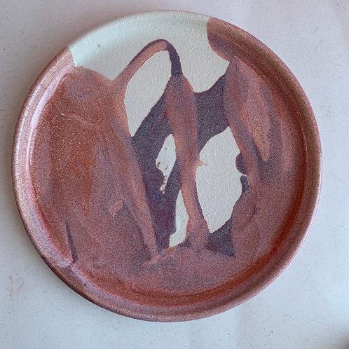 L Pink/purple plate