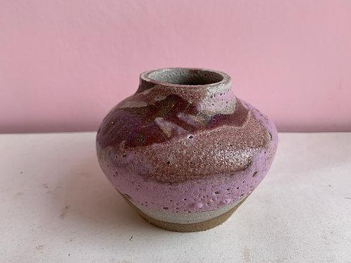 Short Purple Velvet Bud Vase
