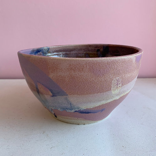 M Purple/blue bowl