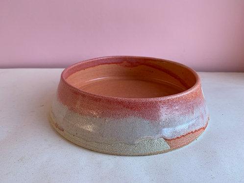 L Strawberry Swirl Dog Bowl