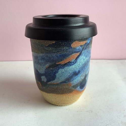 L Midnight swirl travel cup