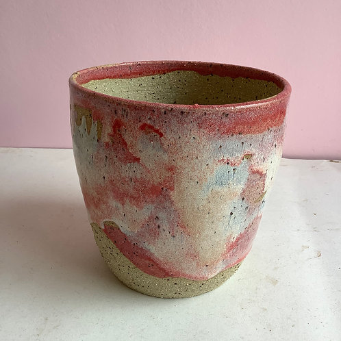 Medium planter: Recycled strawberry Swirl