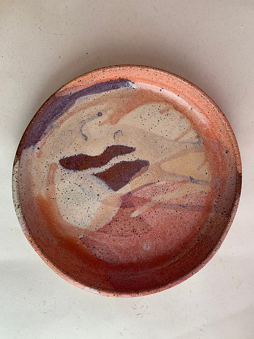 Large Recycled Clay Plate Bowl
