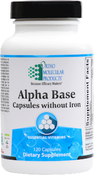 Ortho Molecular- Alpha Base Capsules without Iron