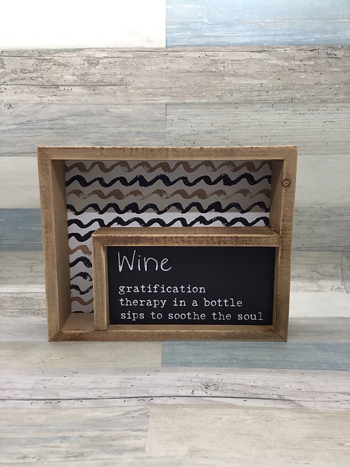Wine - Inset Box Sign