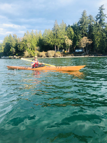 Kayaking on Gamble Bay
