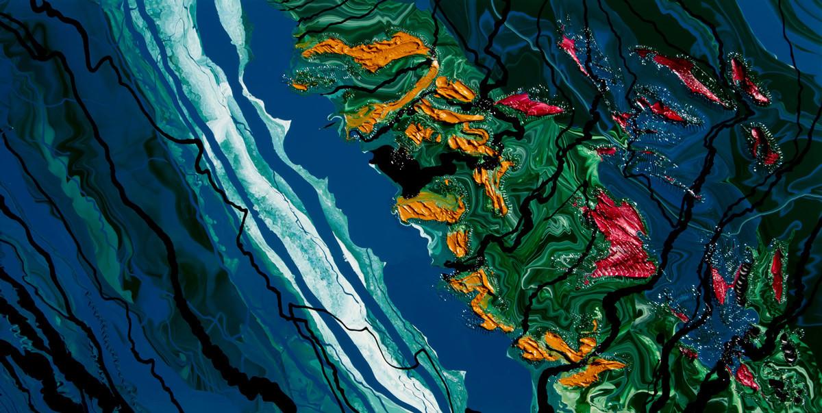 Assembling Alashka 2017 Impasto Mountains with Plankton Blooms