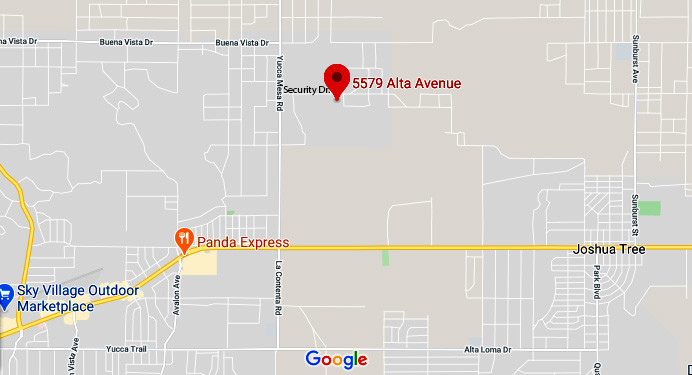 Map to 5579 Alta Ave. Yucca Valley CA