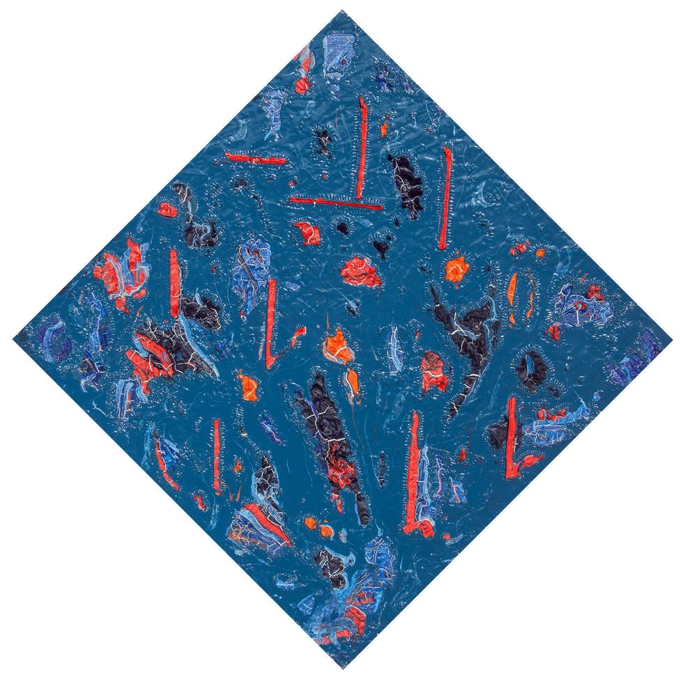 Mondrian Victory Boggie Woggie Blue World Study