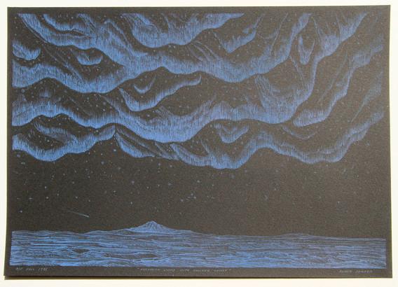 Northern Lights with Halley's Comet