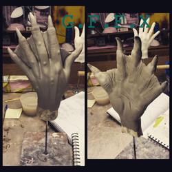 Sea creature gloves