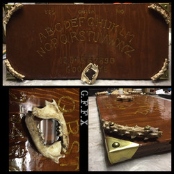 Hand carved Ouija board