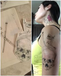 Fake tattoo tranfers