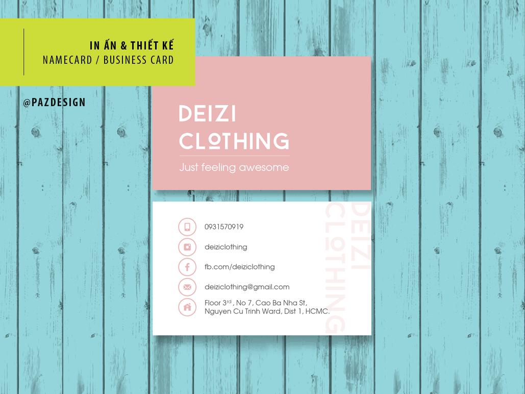 Online Shop - Namecard Design