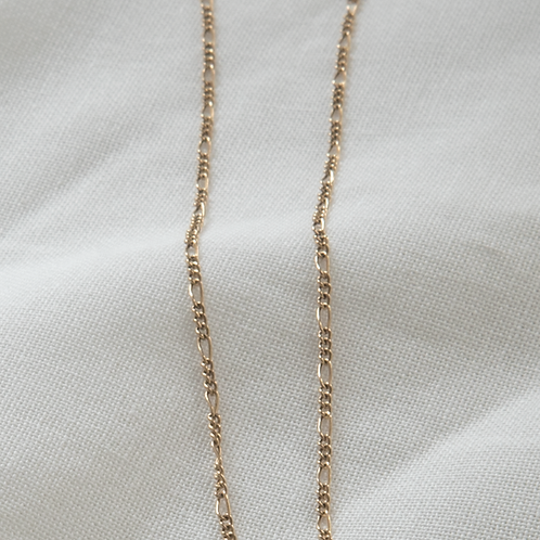 Gold filled jewellery figaro chain necklace Singapore