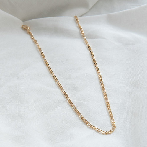 Gold filled jewellery figaro necklace Singapore