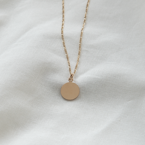 Gold filled jewellery round pendant Singapore