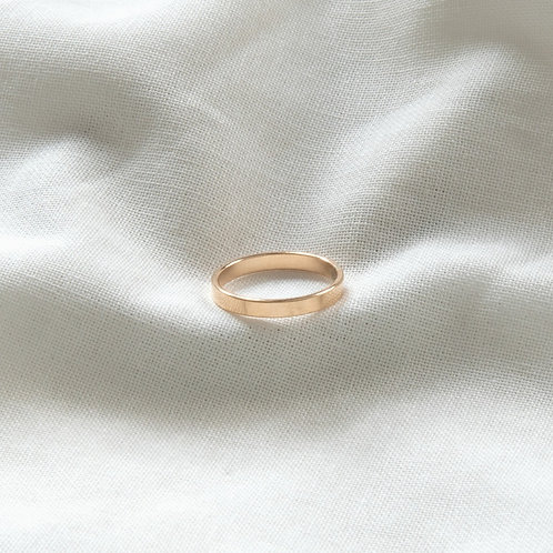Gold filled jewellery flat band ring Singapore