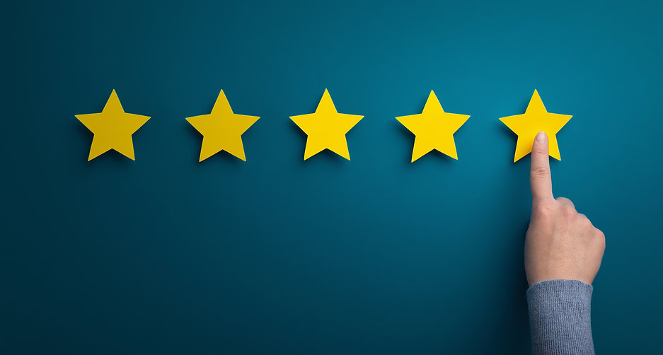 woman-hand-point-at-five-star-rating-on-
