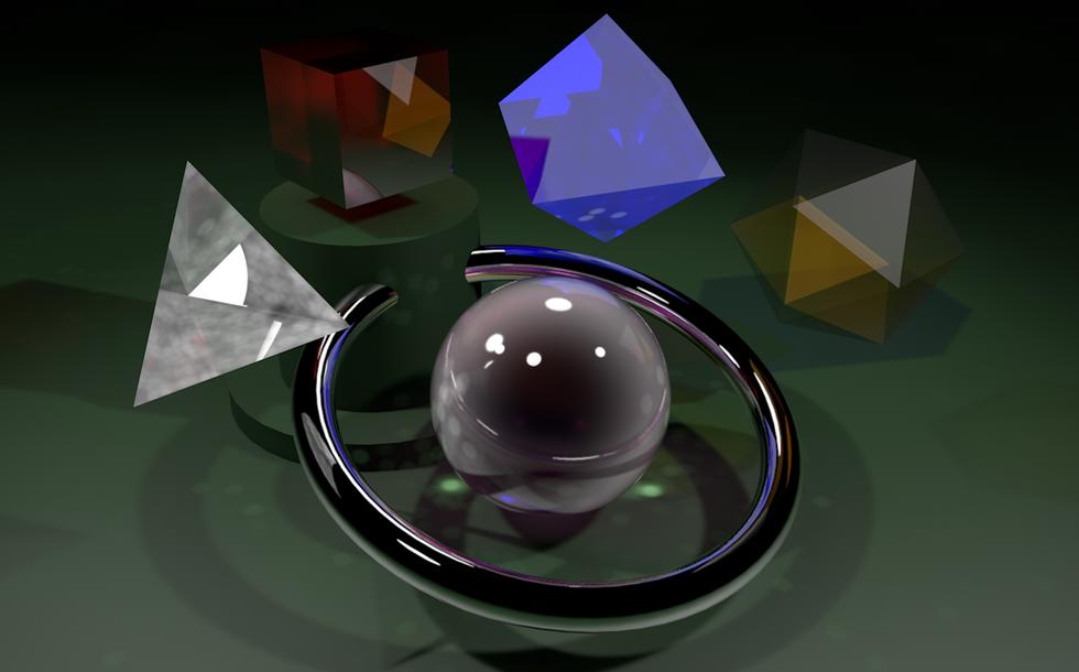 Caustics Light Reflections and Shapes