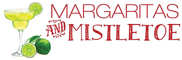 Margaritas and Mistletoe logo with graph