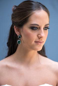 Makeup and earrings