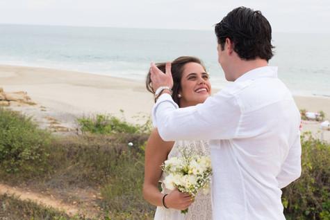Beach wedding fan