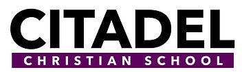 Citadel Christian School Logo w white ba