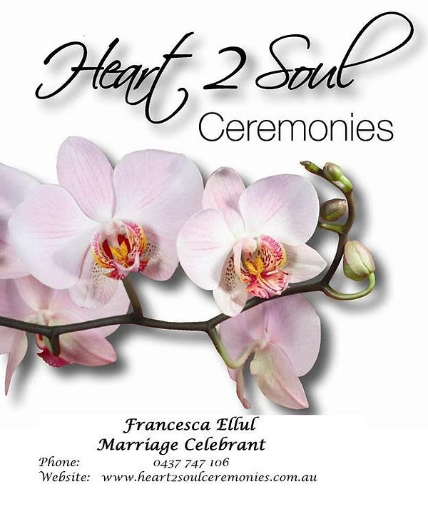 Heart 2 Soul Ceremonies Sunshine Coast wedding logo