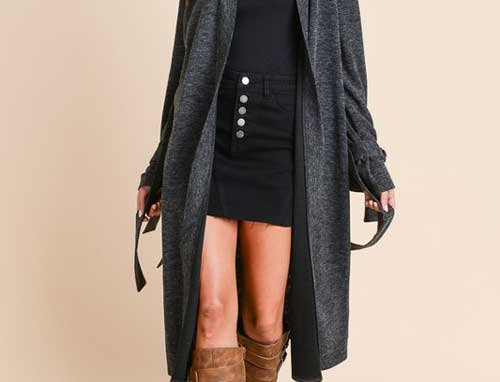 Tie Sleeve Duster Cardigan