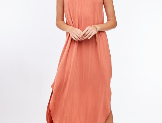 Halter Neck Sleeveless Maxi Dress