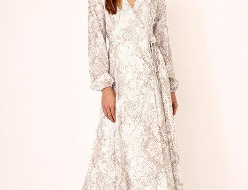 Sand Snake Wrap Midi Dress