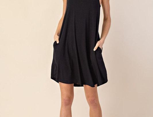 Pocketed Halter Dress