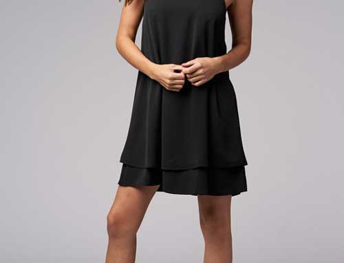 2 layer solid dress – Black