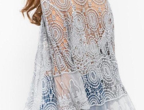 Lightweight Crochet Kimono Lace Duster