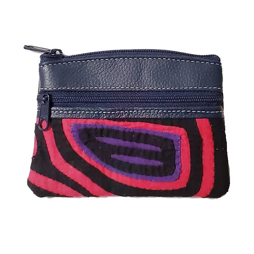 Mola Coin Purse Dark Blue 2 (Only one unit in stock)