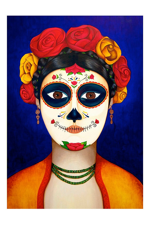 Catrina Bonita Art Card
