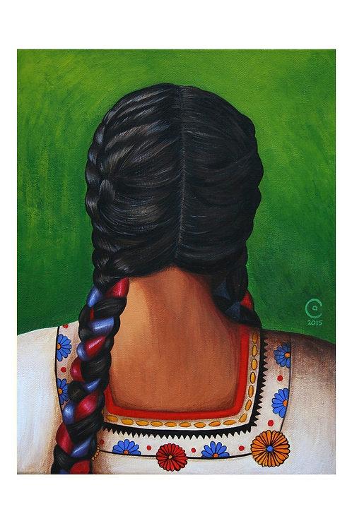 Fiesta Braids Art Print