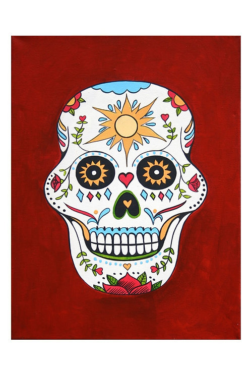 Sugar Skull Day Art Card