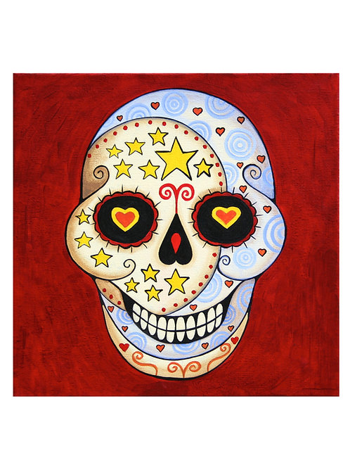 Sugar Skull Moon Art Print