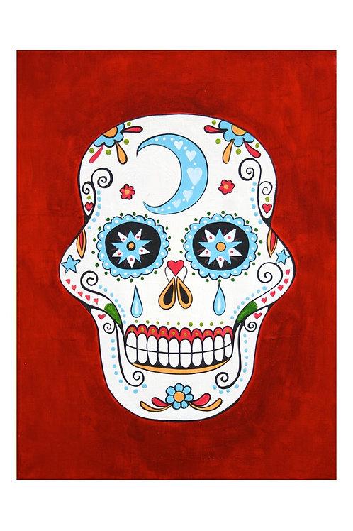 Sugar Skull Night Art Card