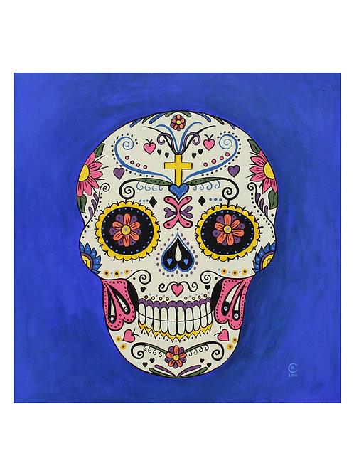 Sugar Skull Cross Art Print