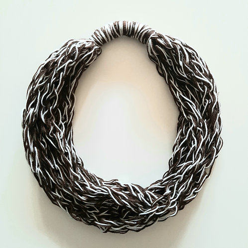 White and Dark Brown Necklace (Only one unit in stock)