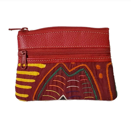 Mola Coin Purse Burgundy 1 (Only one unit in stock)